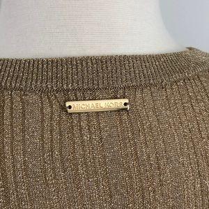 MICHAEL Michael Kors Tops - Michael Kors gold fitted top